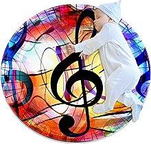 Stelle note musicali zerbino rotondo lavabile