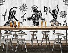 Sticker Adesivo murale foto fitness yoga indiano