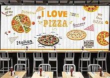 Sticker Adesivo murale foto pizzeria in legno
