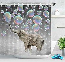 Stile creativo colorato elefante bolla Stampa HD,