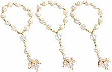 STOBOK 12 bracciali di Perle per Battesimo,