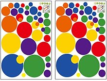 STOBOK Adesivo da Parete a Pois colorato Cerchio