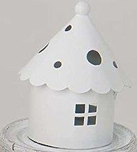 STOCK 12 PEZZI Lanterna Pagoda in latta bianca
