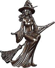 Strega con la luna Statua della dea Artigianato in