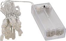 Striscia LED con timer luce calda 2m 20 LED