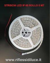 STRISCIA LED IP68 MT 5 24V SMD5050 14.4W/MT BIANCO