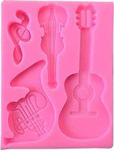 Strumenti musicali in resina stampo chitarra