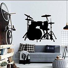 Strumento musicale Silhouette tamburi Adesivo