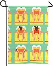Struttura della bandiera del giardino del dente