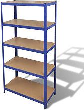 Struttura per Garage con Scaffali Blu