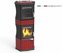 Stufa a legna Monella 185 N con forno potenza