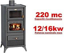 Stufa a legna/Termocamino con forno 12/16 Kw -