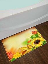 Stuoie da bagno con foglie gialle girasole,