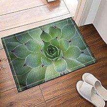 Stuoie da bagno con foglie succulente,