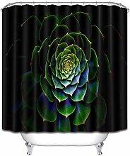 Succulente nero minimalista tenda doccia bagno