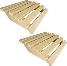 SudoreWell® - 2 poggiatesta per sauna Premium, in