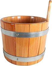SudoreWell® Secchio igienico per sauna in larice,