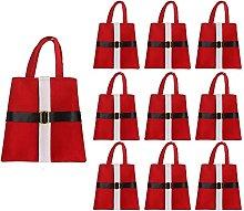 SUFUBAI 10 sacchetti con stampa di Babbo Natale,