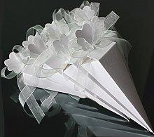 Sumshy 50 PZ Bianco Coni Portaconfetti Confettata