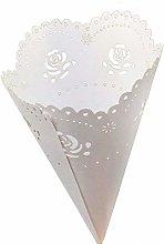 Sumshy 50 PZ Bianco Coni Portaconfetti Confettata,