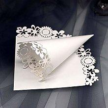 Sumshy 50 PZ Coni Riso Matrimonio Bianco, Serie di