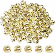 Suneast - Campane di Natale in metallo, 100 pezzi,