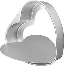 Suneast - Teglia da forno a forma di cuore,