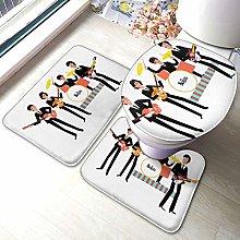 Sunmuchen Beatles Music - Set di 3 tappetini da