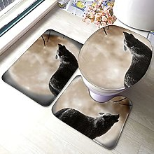 Sunmuchen, set di 3 tappetini da bagno con motivo