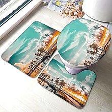 Sunmuchen, set di 3 tappetini da bagno da