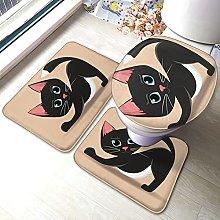 Sunmuchen, set di 3 tappetini da bagno