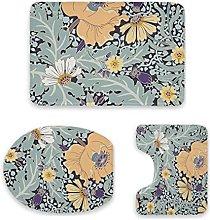 Sunny Garden - Set di 3 tappetini da bagno,