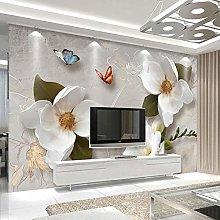 SUNNYBZ Adesivi Mural, Bianco Fiore Farfalla