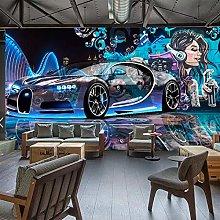 SUNNYBZ Murale Da Parete Soggiorno Graffiti Auto