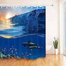 Sunrise Undersea Dolphin Fish HD stampa, tenda