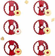 SUNSK Stampi per Biscotti Fiore Formine per