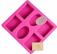 SUNSK Stampo in Silicone Stampi Sapone 6 Cavità