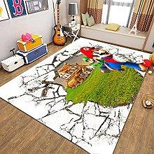 Super Mario Bros, tappeto per soggiorno, camera da
