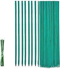 Supporti per piante, 50 pezzi, 45 cm, in bambù,