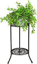 Supporto per piante in metallo a due livelli