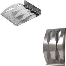 Supporto per rasoio portaspazzolino in acciaio