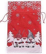 SUSHUN Sacchetto Regalo di Natale in Lino Bambola