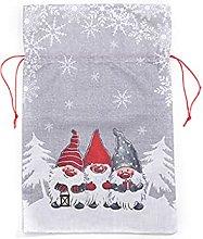 SUSHUN Sacchetto Regalo di Natale in Lino con
