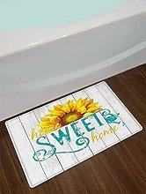 Sweet Home - Tappetino da bagno con girasole,
