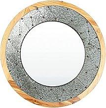 Sysrqcer Specchio Decorativo in Metallo Americano,