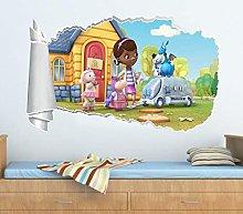 SYYUN Adesivi murali 3d buco adesivo murale