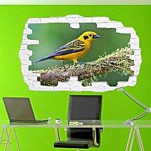 SYYUN Adesivi murali albero uccello uccello