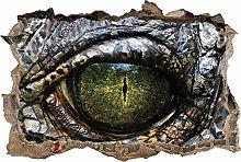 SYYUN Adesivi murali Alligatore coccodrillo occhi