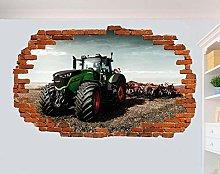 SYYUN Adesivi murali Potente trattore aratro