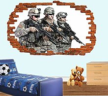 SYYUN Adesivi murali Soldato esercito militare
